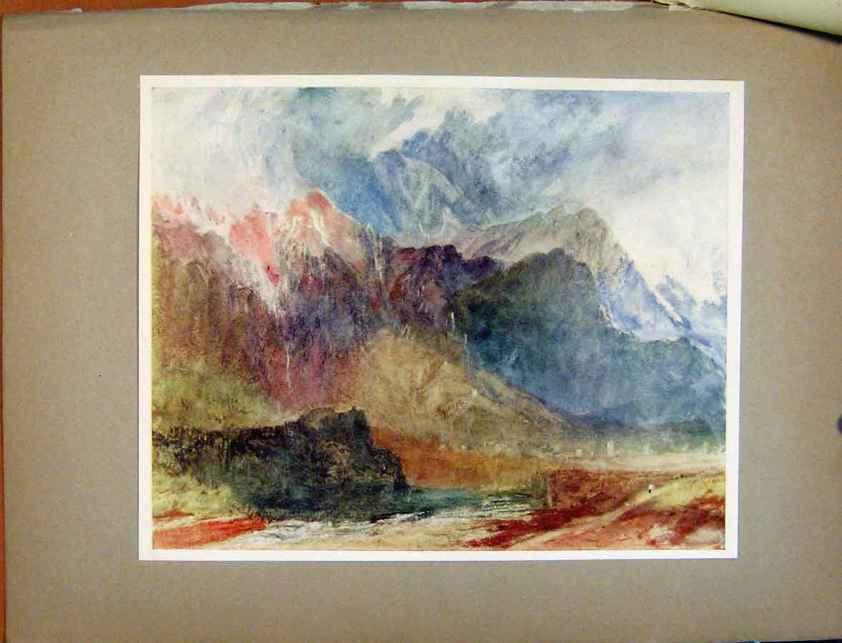 Print Plate Xliii In The Val Daosta Passing Shower Turners 088411 Old Original