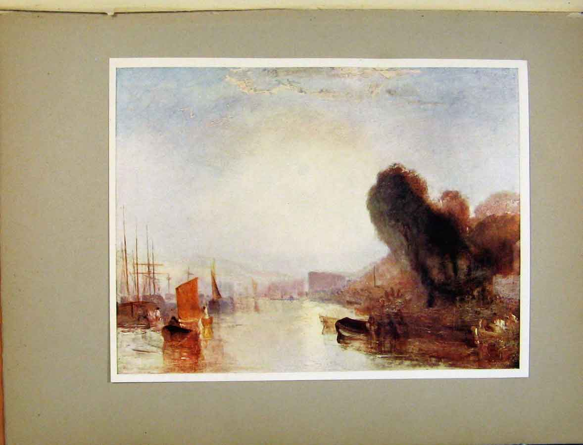 Print Plate Xix Shipping At Cowes C1925 Turners Art 328411 Old Original