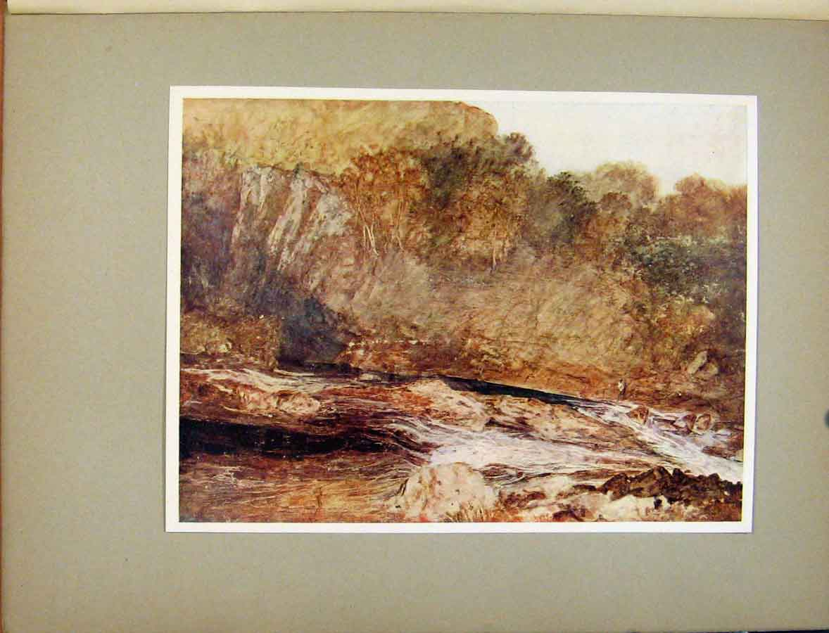 Print Plate Xii A Mountain Stream Turners Golden Vision 398411 Old Original