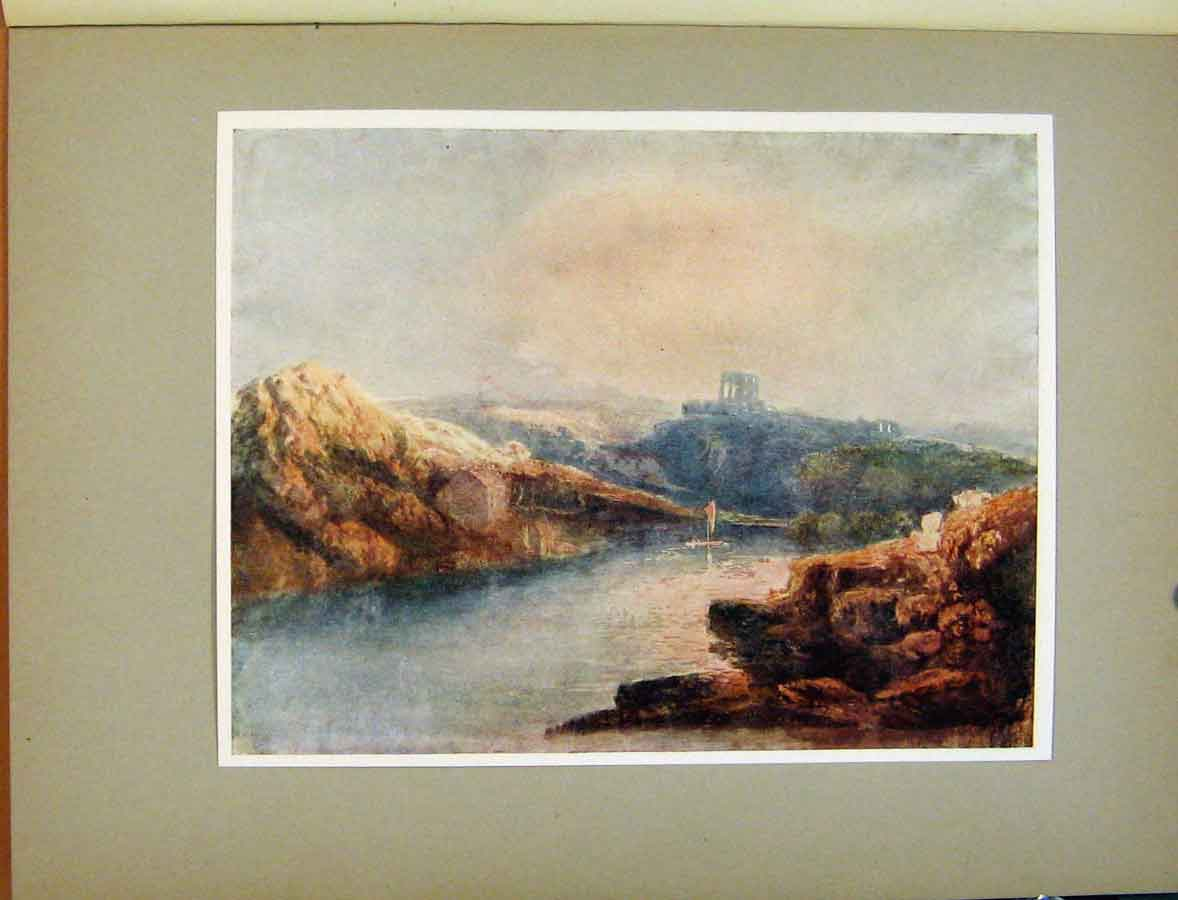Print Plate Vii Study For A Picture Norham Castle Turner 448411 Old Original