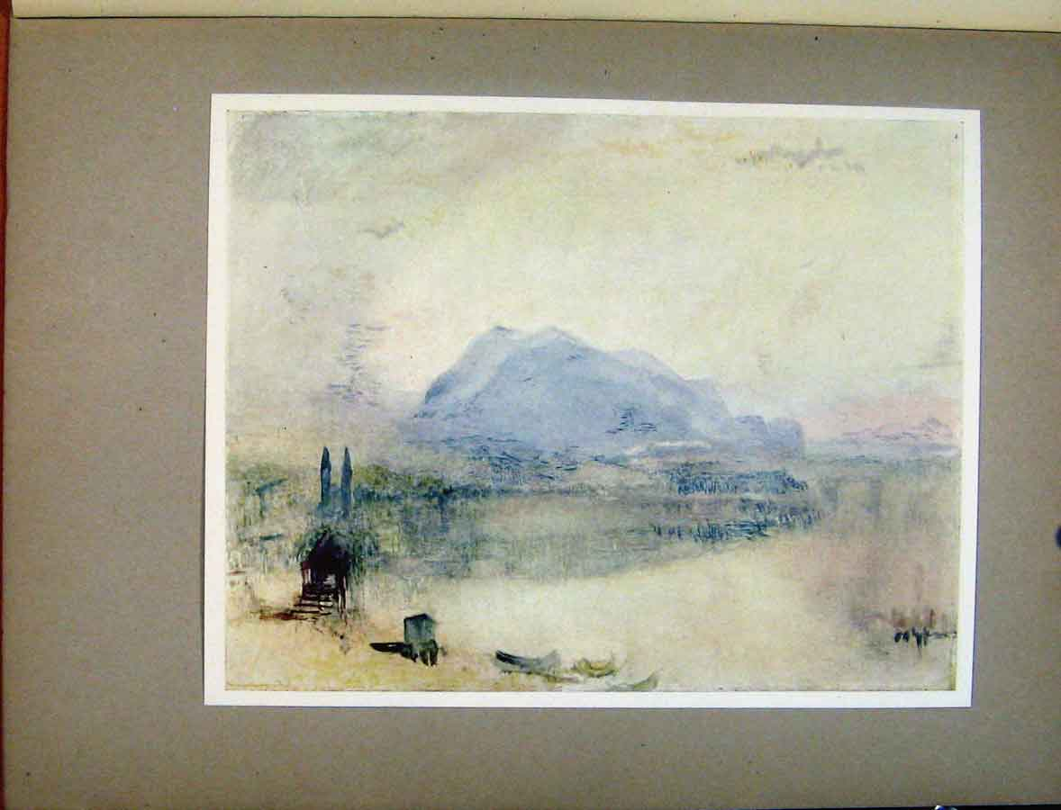 Print Palte Iii Lucerne And The Right Dawn Turners Art 488411 Old Original