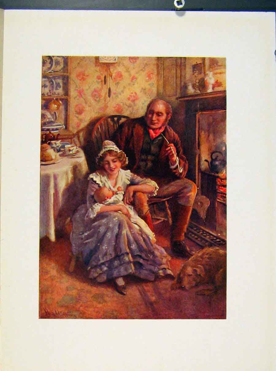 Print John And Dot Peerybingle Portraits By Harcopping 068421 Old Original
