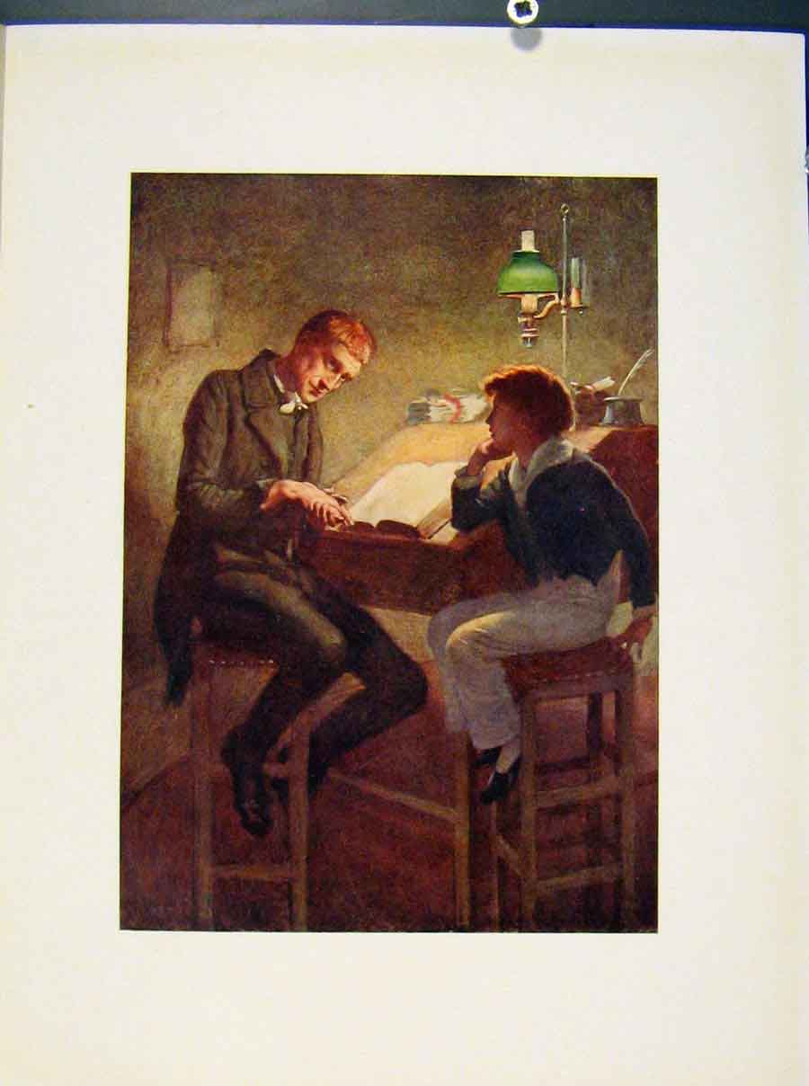 Print David Copperfield And Uriah Heep By Harcopping Art 118421 Old Original