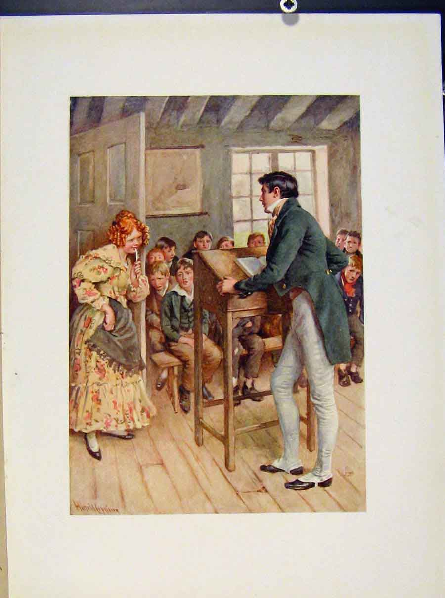 Print Fanny Squeers And Nicholas Nickleby From Dickens 268421 Old Original