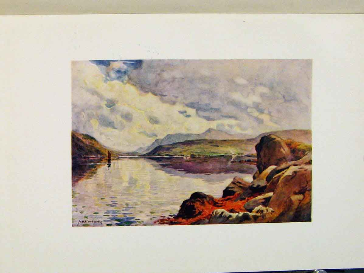 Print Mirror The Morning Sky Killery Harbour Ireland 068431 Old Original