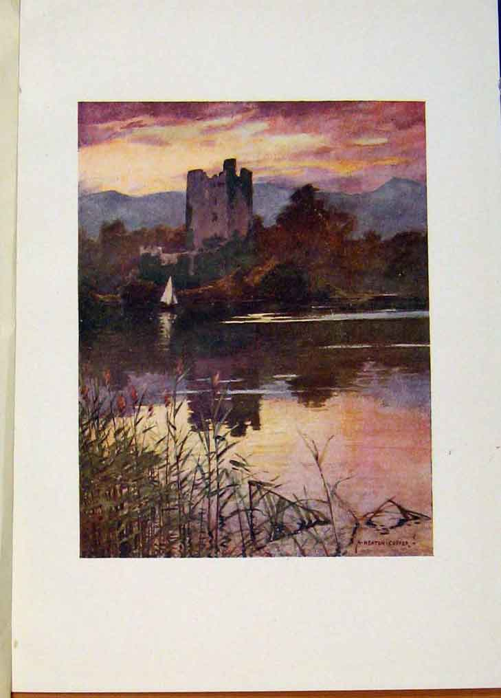 Print Ross Castle Killarney By A Heaton Cooper Ireland 218431 Old Original