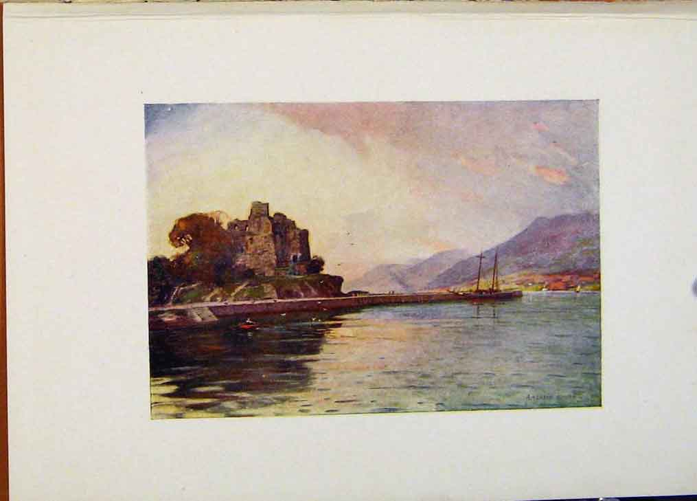 Print Carlingfor Lough Down By A Heaton Cooper Ireland 458431 Old Original