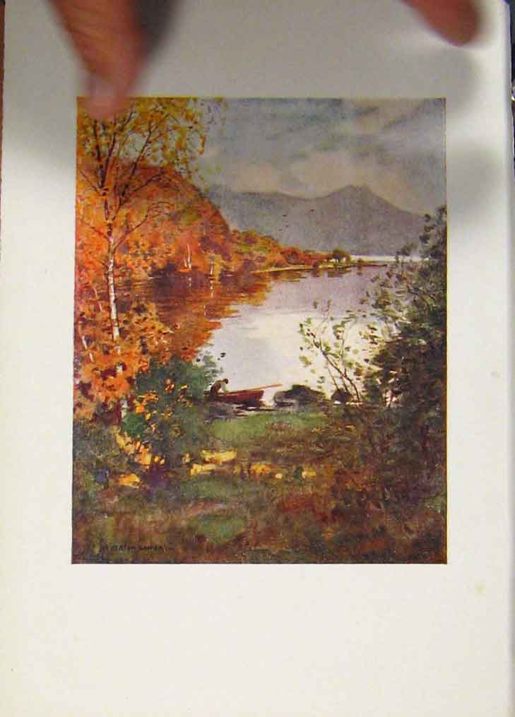 Print Innisfallen Islands Killarney Ireland 508431 Old Original