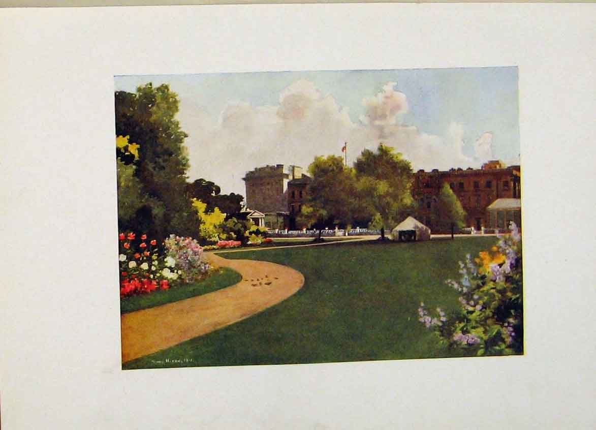 Print Buckingham Palace London Color C1916 208441 Old Original
