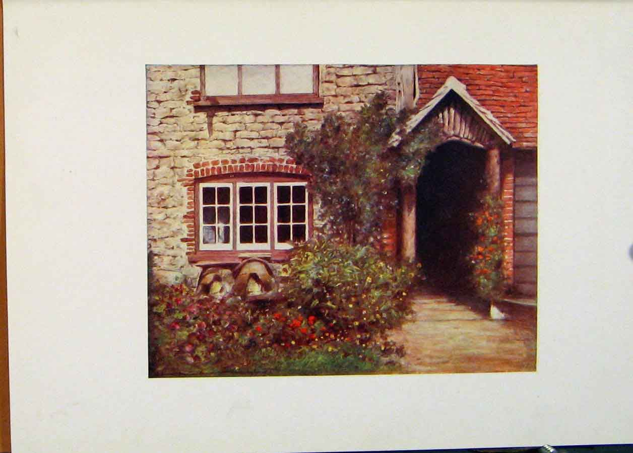 Print Surrey Porch England World Pictures 1902 038451 Old Original