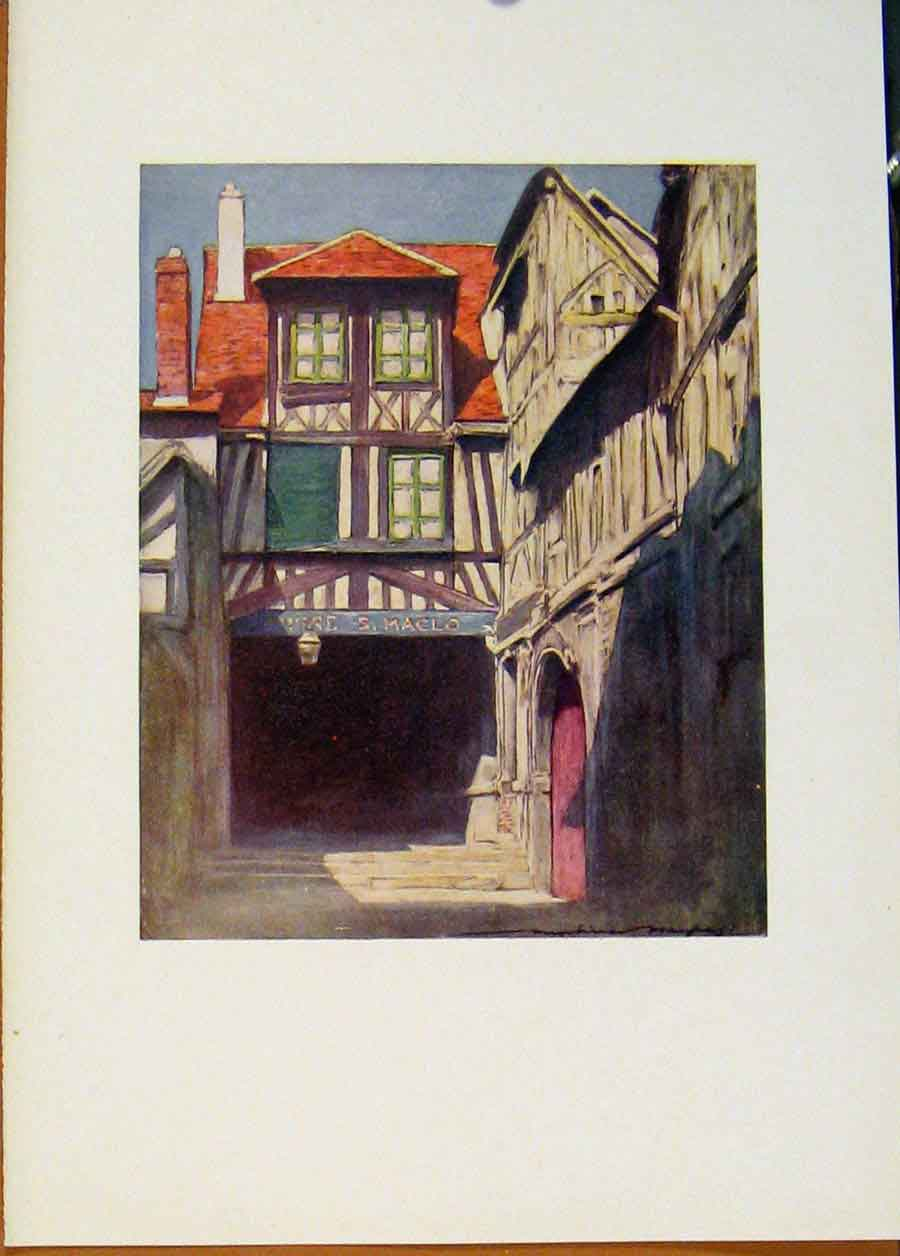 Print Rouen Normandy World Pictures 1902 108451 Old Original