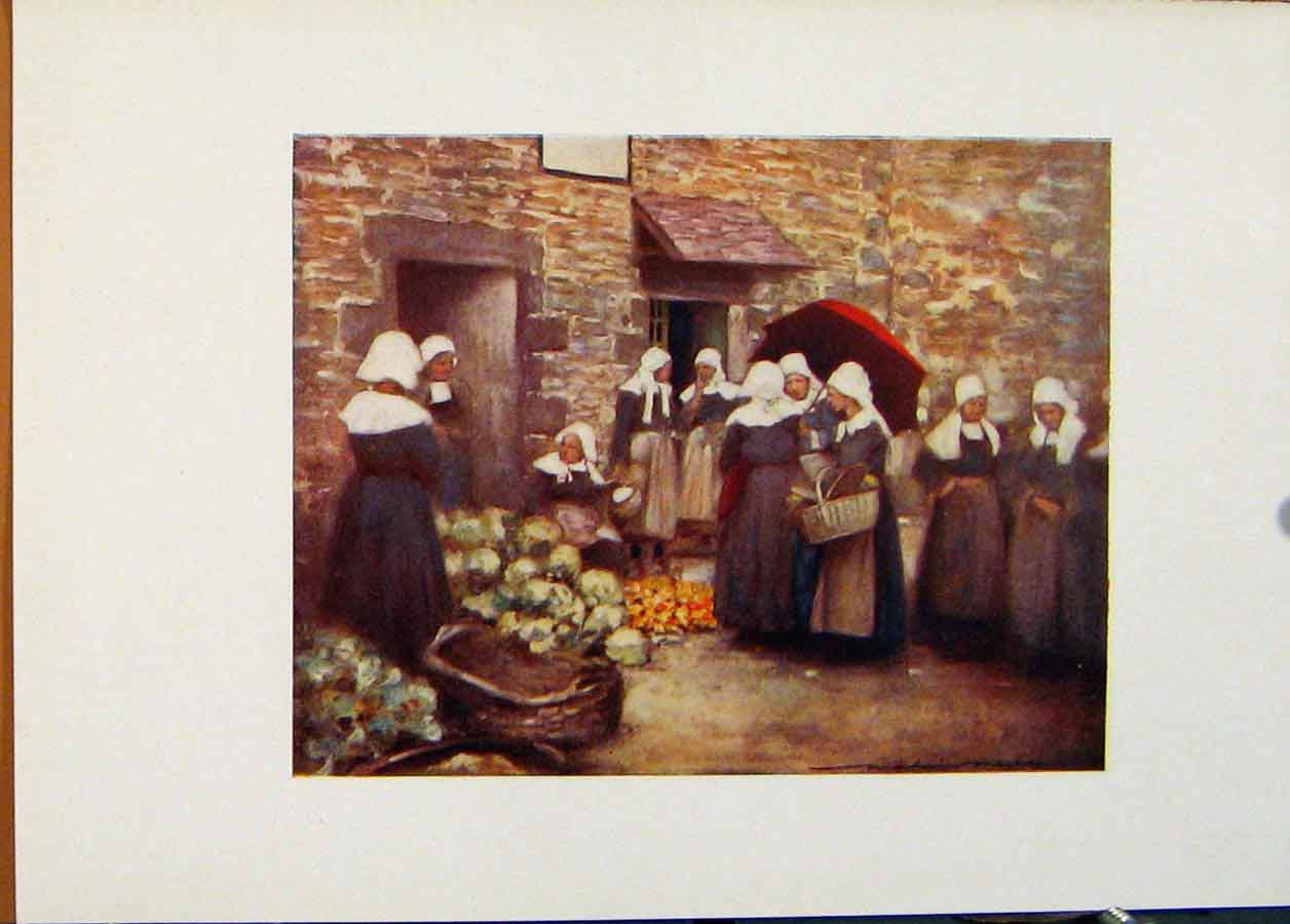 Print Vegetable Market Brittany World Pictures 118451 Old Original