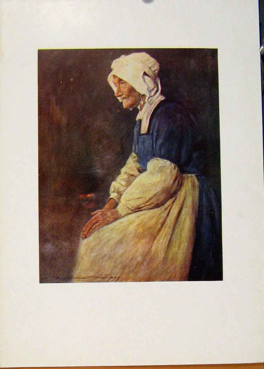 Print World Pictures Breton Woman Brttany 128451 Old Original