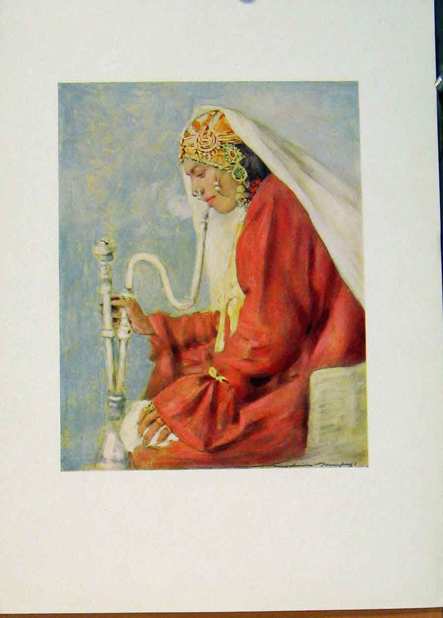Print World Pictures 1902 Singing Girl Cashmere 408451 Old Original