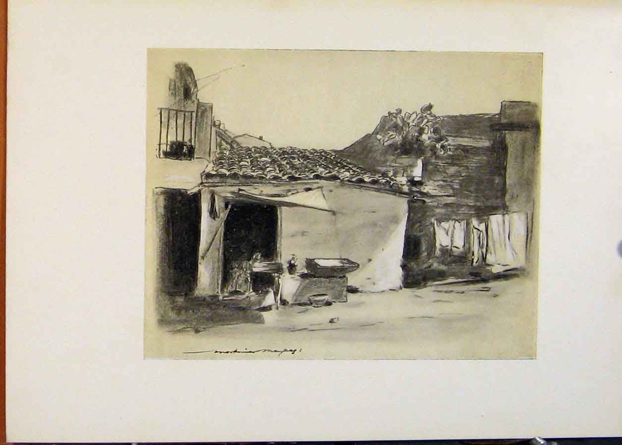 Print World Pictures On The Outskirts Palermo 708451 Old Original