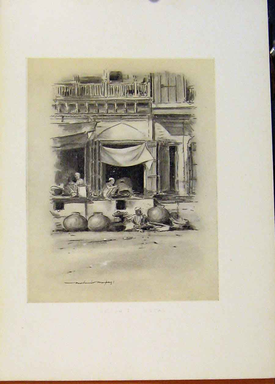 Print Bazaar At Delhi C1902 World Pictures 828451 Old Original