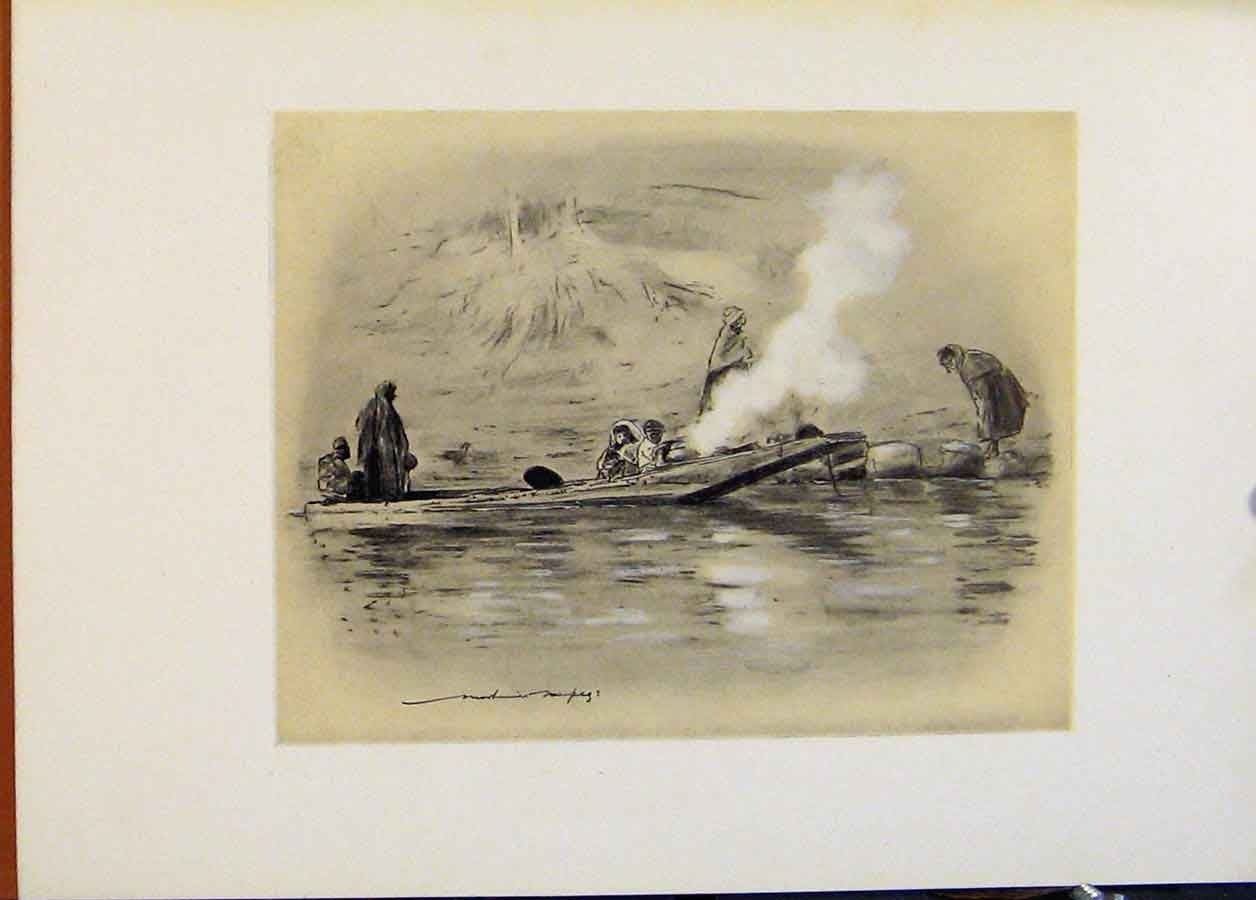 Print Family Nomadic Tribe C1902 World Pictures 878451 Old Original