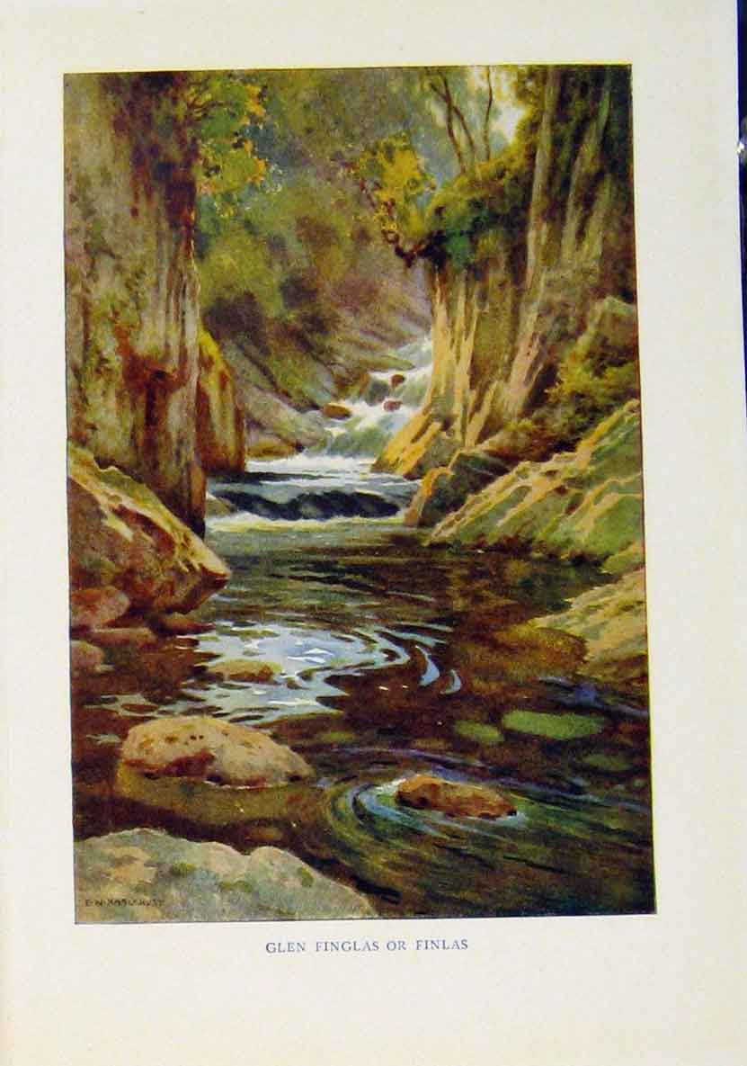Print Beautiful Scotland Glen Finglas Finlas 498461 Old Original