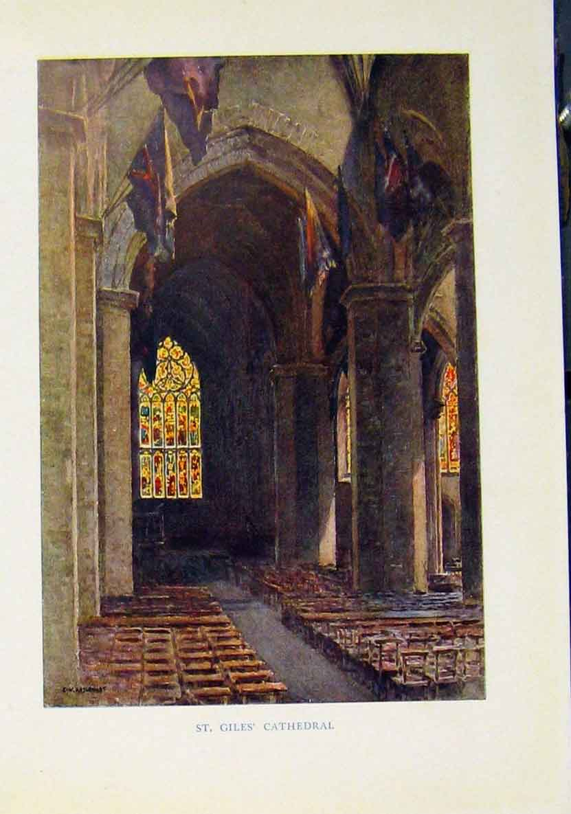 Print St Giles Cathedral Beautiful Scotland 528461 Old Original
