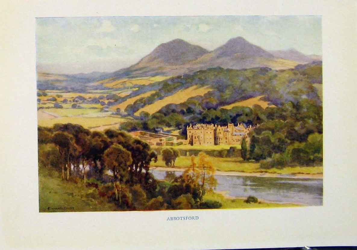 Print Abbotsford Beautiful Scotland C1920 708461 Old Original