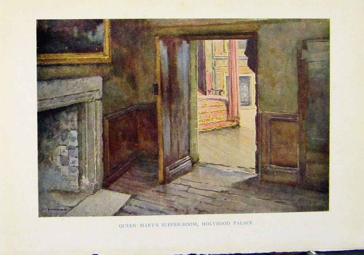 Print Queen Marys Supper Room Holy Rood Palace Scotland 808461 Old Original