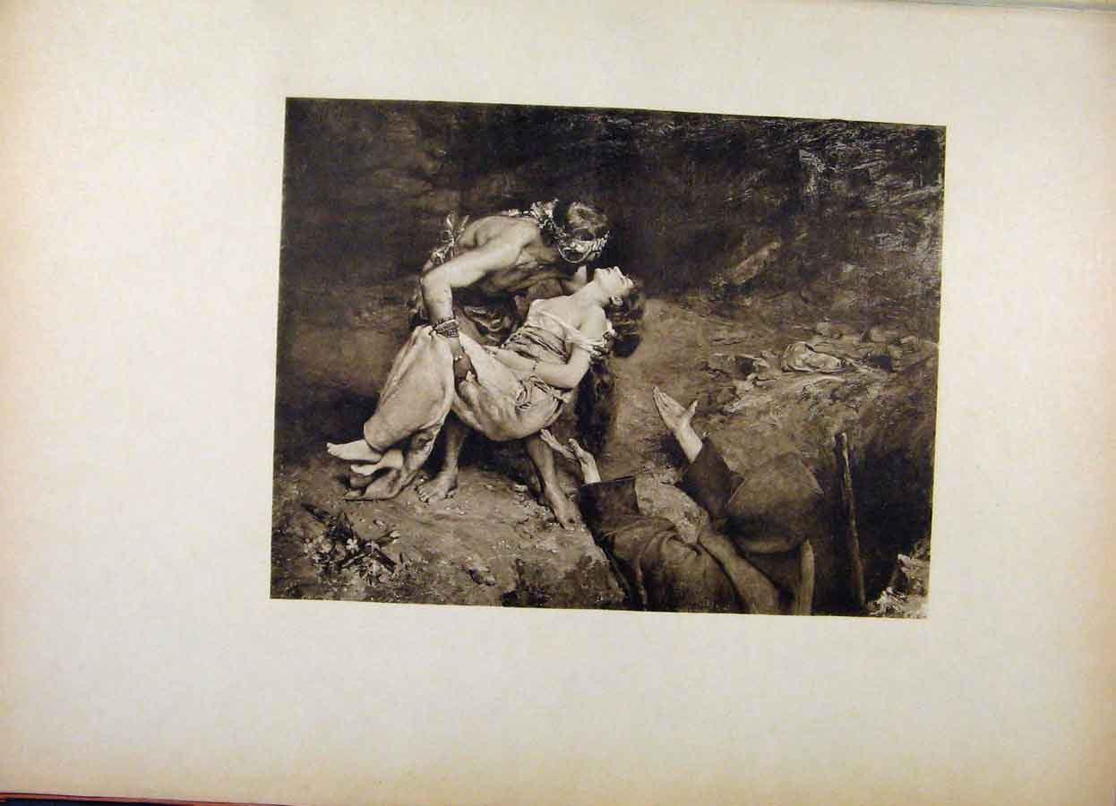Print French Art Lenterrement Datala By Gustave Courtois 278561 Old Original