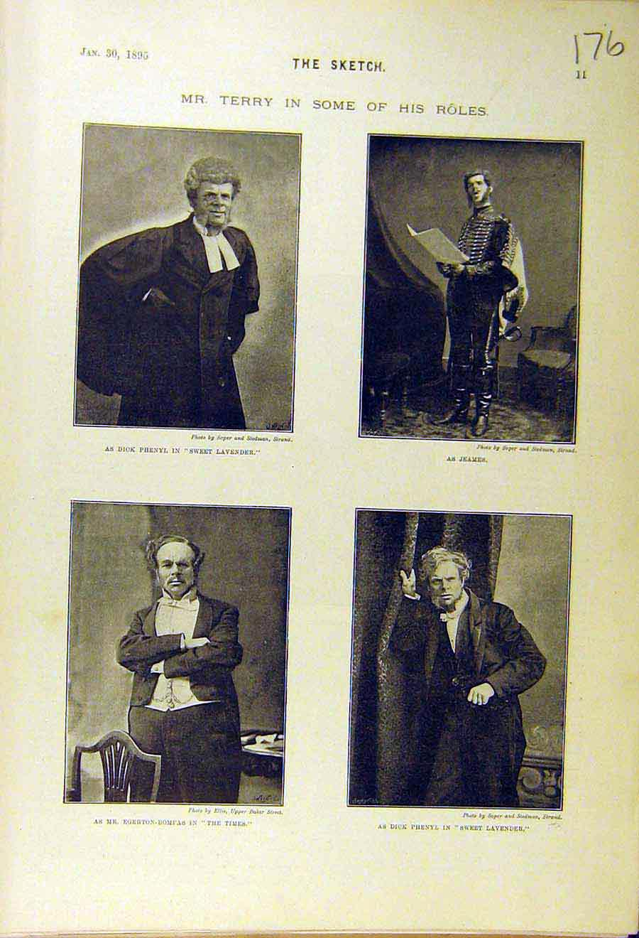 Print 1895 Terry Actor Theatre Jeames Phenyl Stage Scene 768661 Old Original