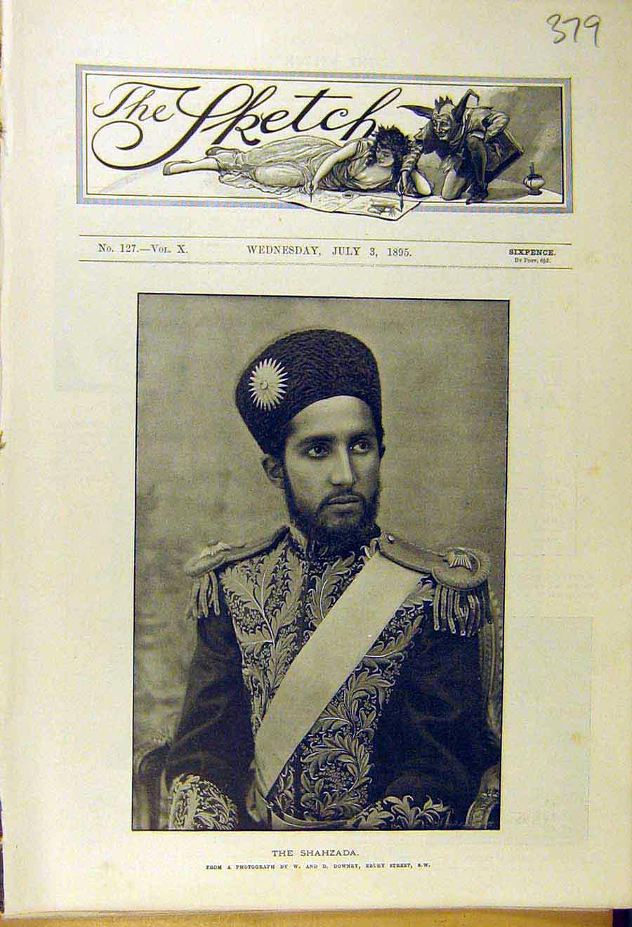 Print 1895 Shahzada Portrait Photo 798661 Old Original