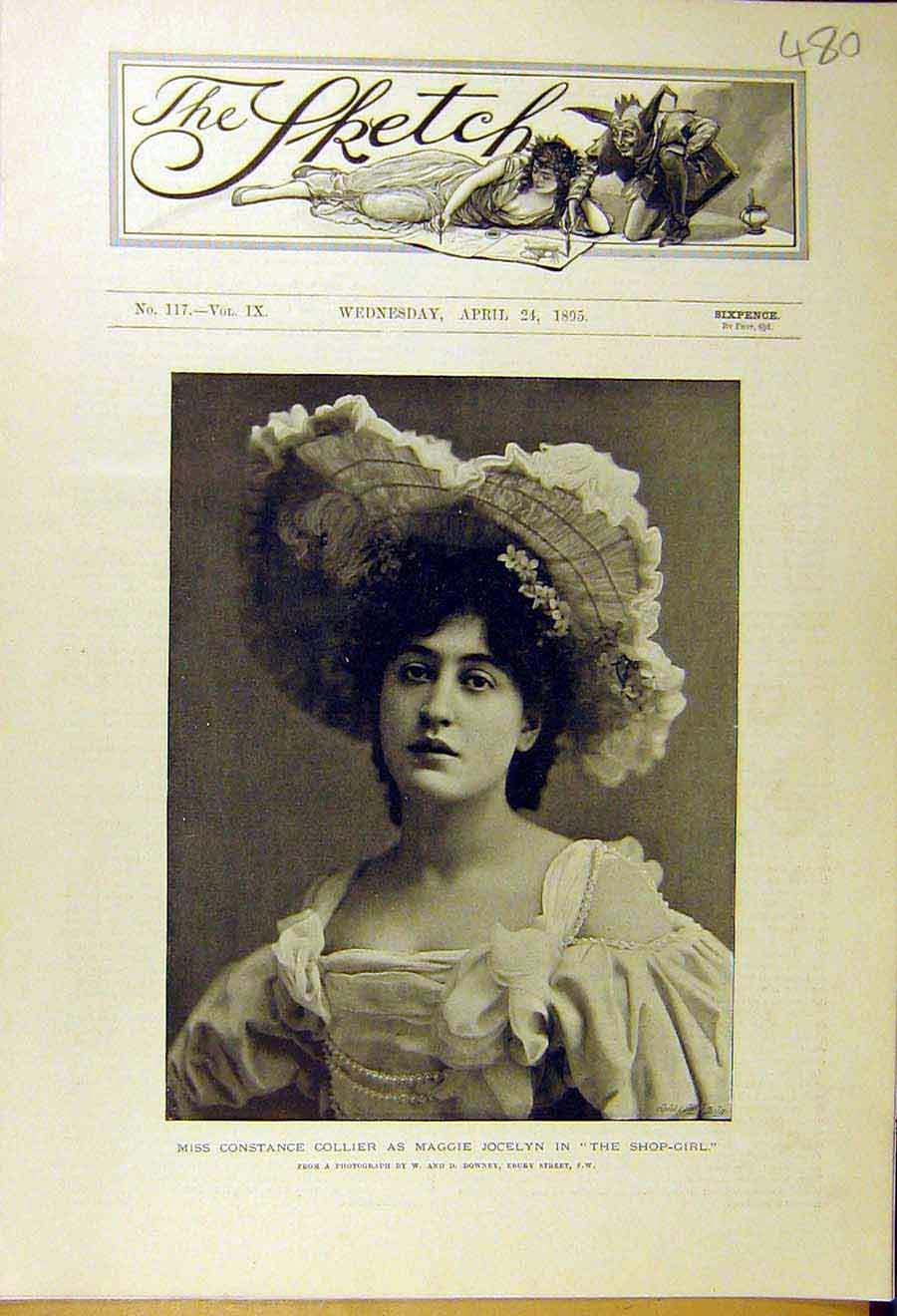 Print 1895 Constance-Collier Jocelyn Shop-Girl Actor Theatre 808661 Old Original