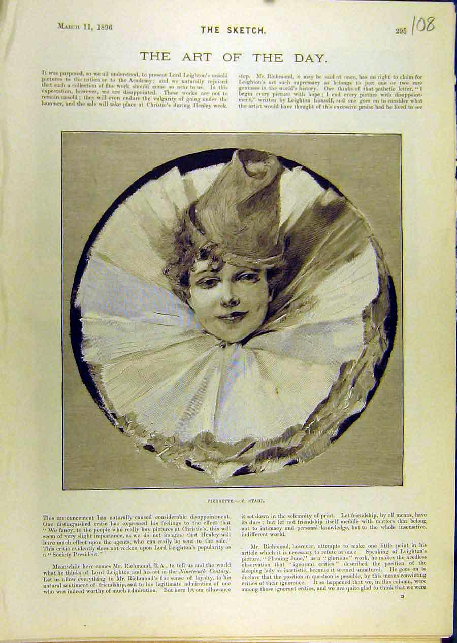 Print 1896 Pierrette Stahl Fine Art 088671 Old Original