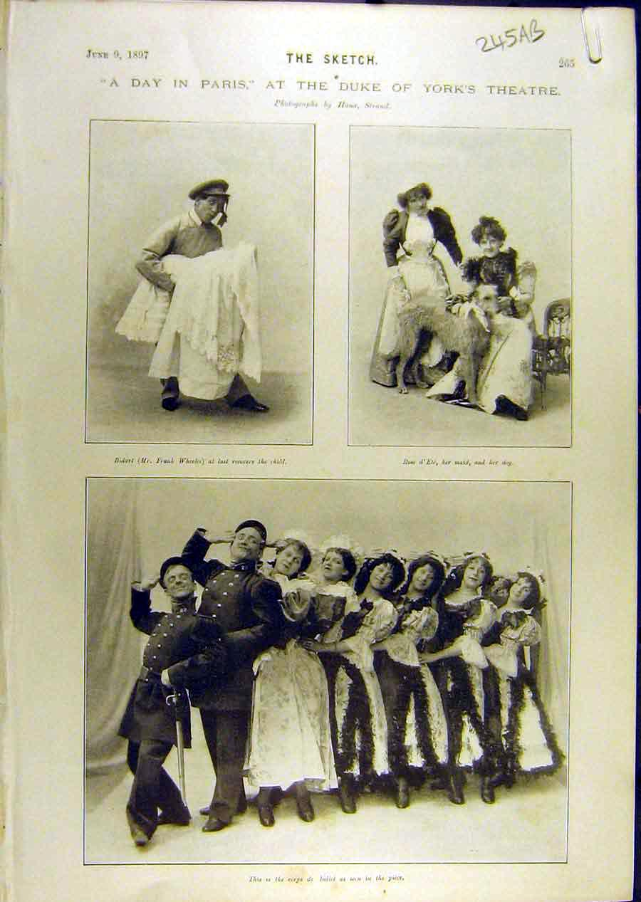 Print 1897 Duke York Theatre Wheeler Sydney Actors Bidart 45A8671 Old Original