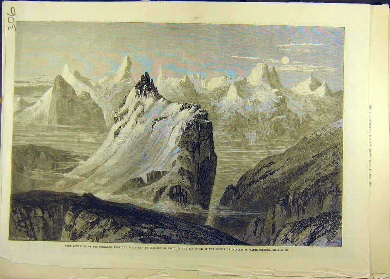Print Oberland Mountain Faulhorn Smith Fine Art 068681 Old Original