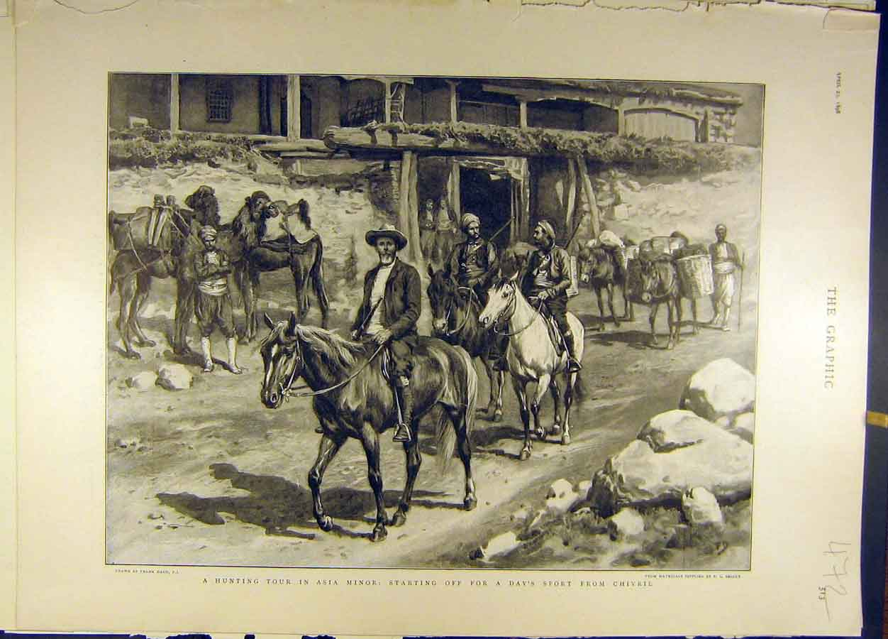 Print 1898 Hunting Tour Asia-Minor Sport Chivril Dadd 728691 Old Original