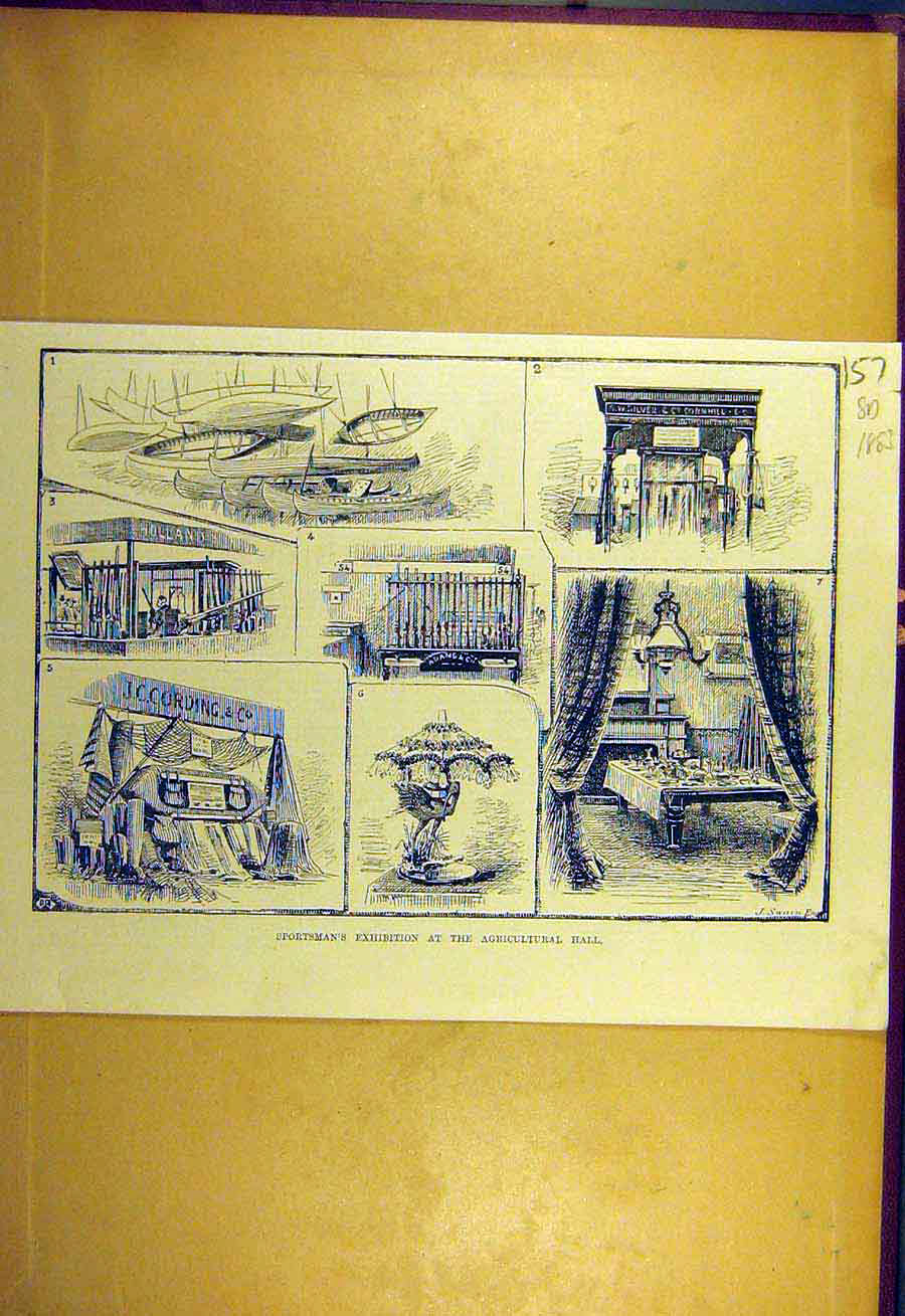 Print 1883 Sports-Man Exhibition Agricultural Hall Sporting 578731 Old Original
