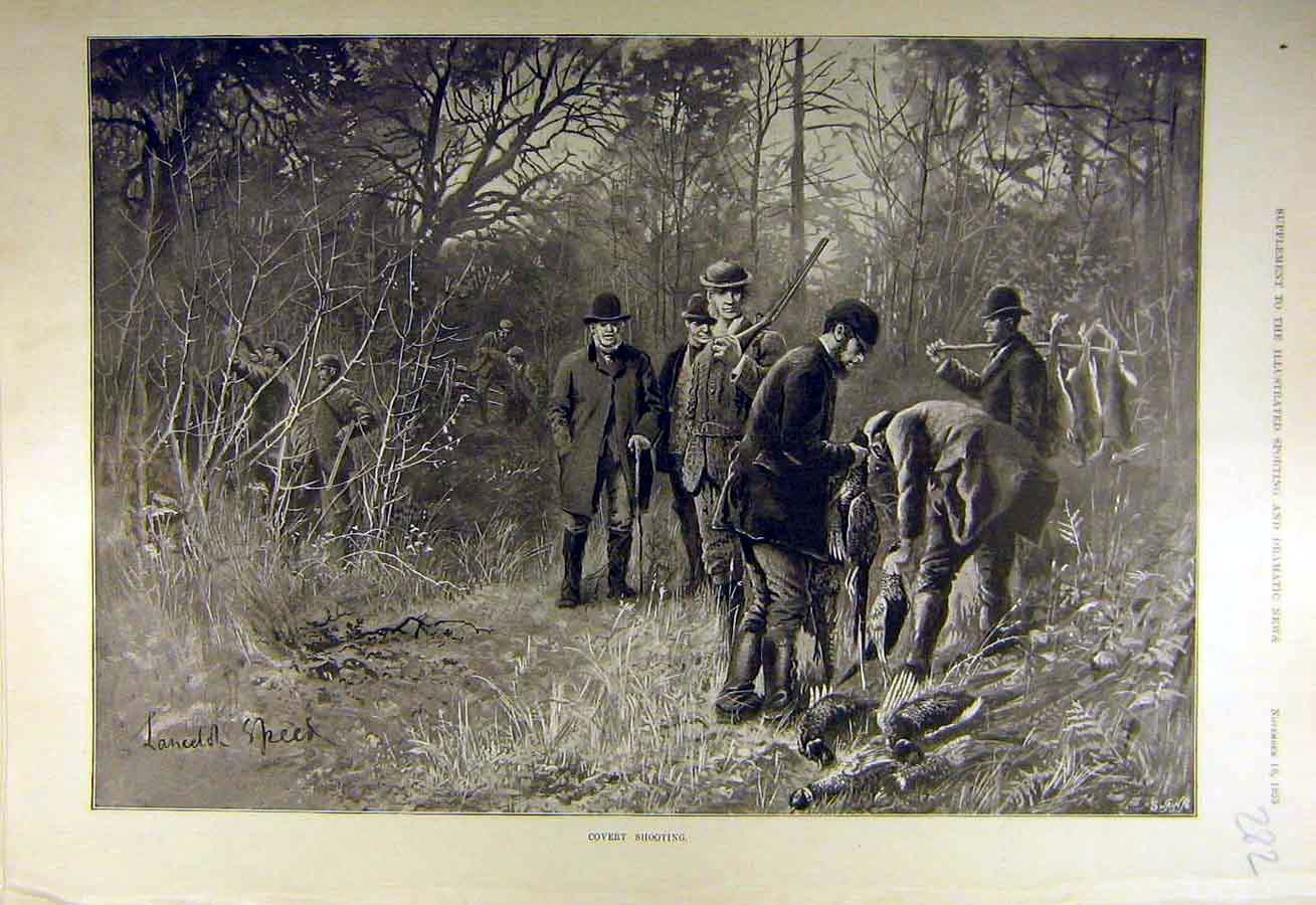 Print 1895 Covert Shooting Sport Speed Fine Art 828731 Old Original
