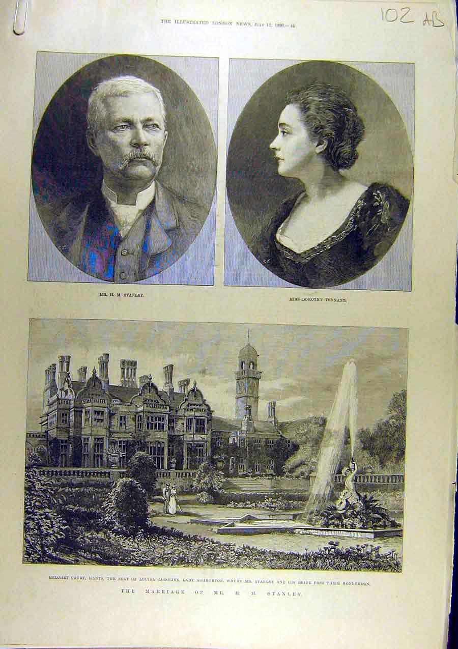 Print 1890 Marriage Stanley Tennant Westminster Abbey 02A8761 Old Original