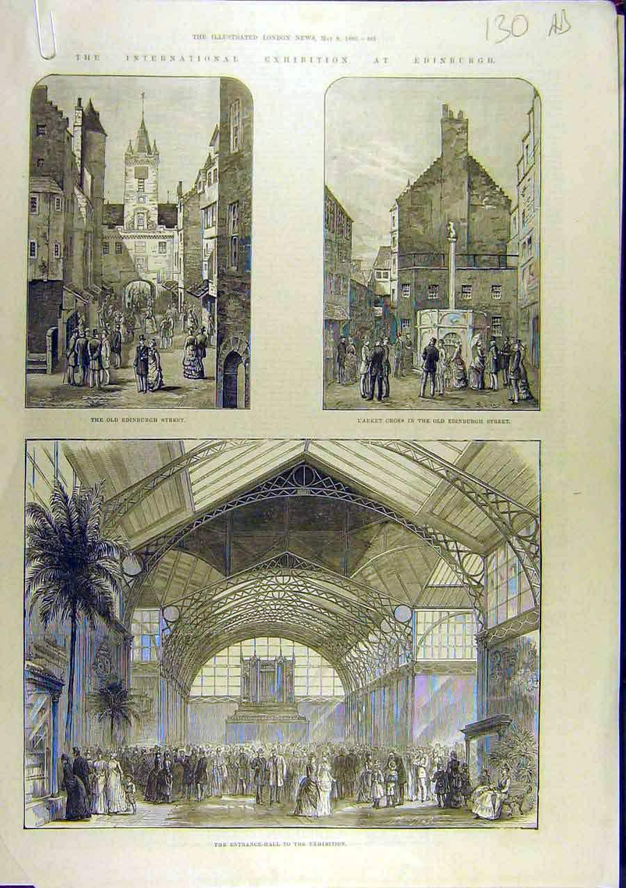 Print 1886 Exhibition Edinburgh Scotland Calcutta Dufferin 30A8761 Old Original