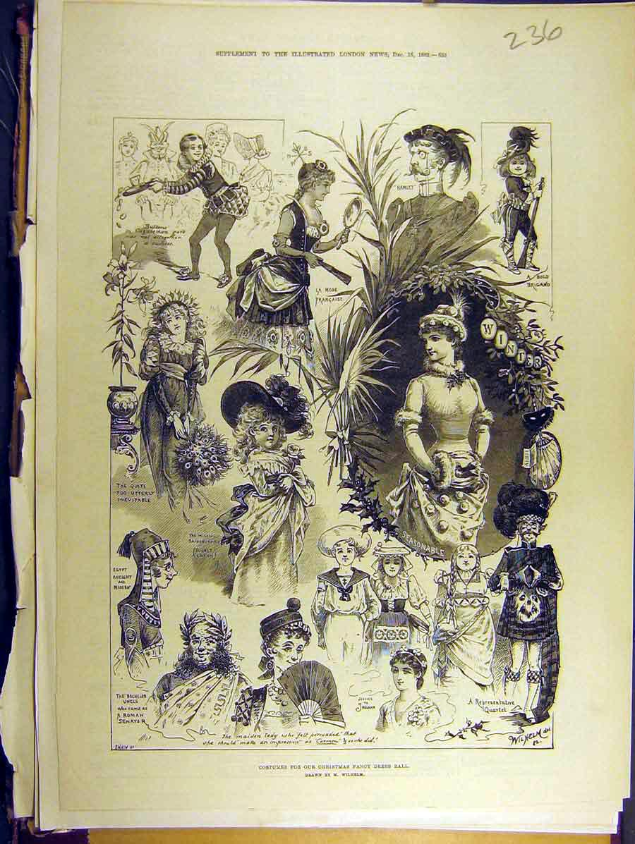 Print 1882 Costumes Christmas Fancy Dress Ball 368771 Old Original