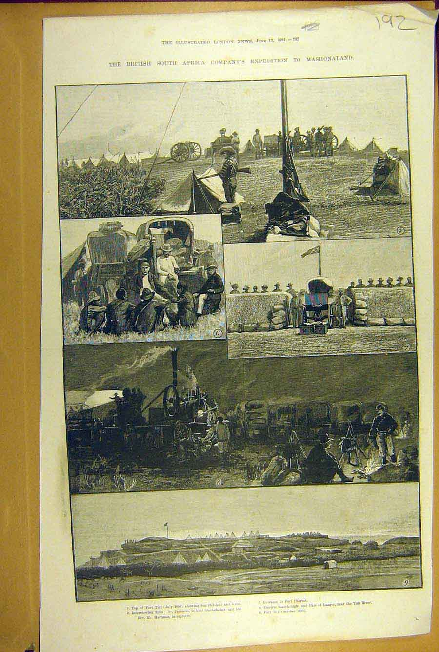 [Print 1891 Expedition Mashonaland Tuli Africa Bsa Jameson 928781 Old Original]