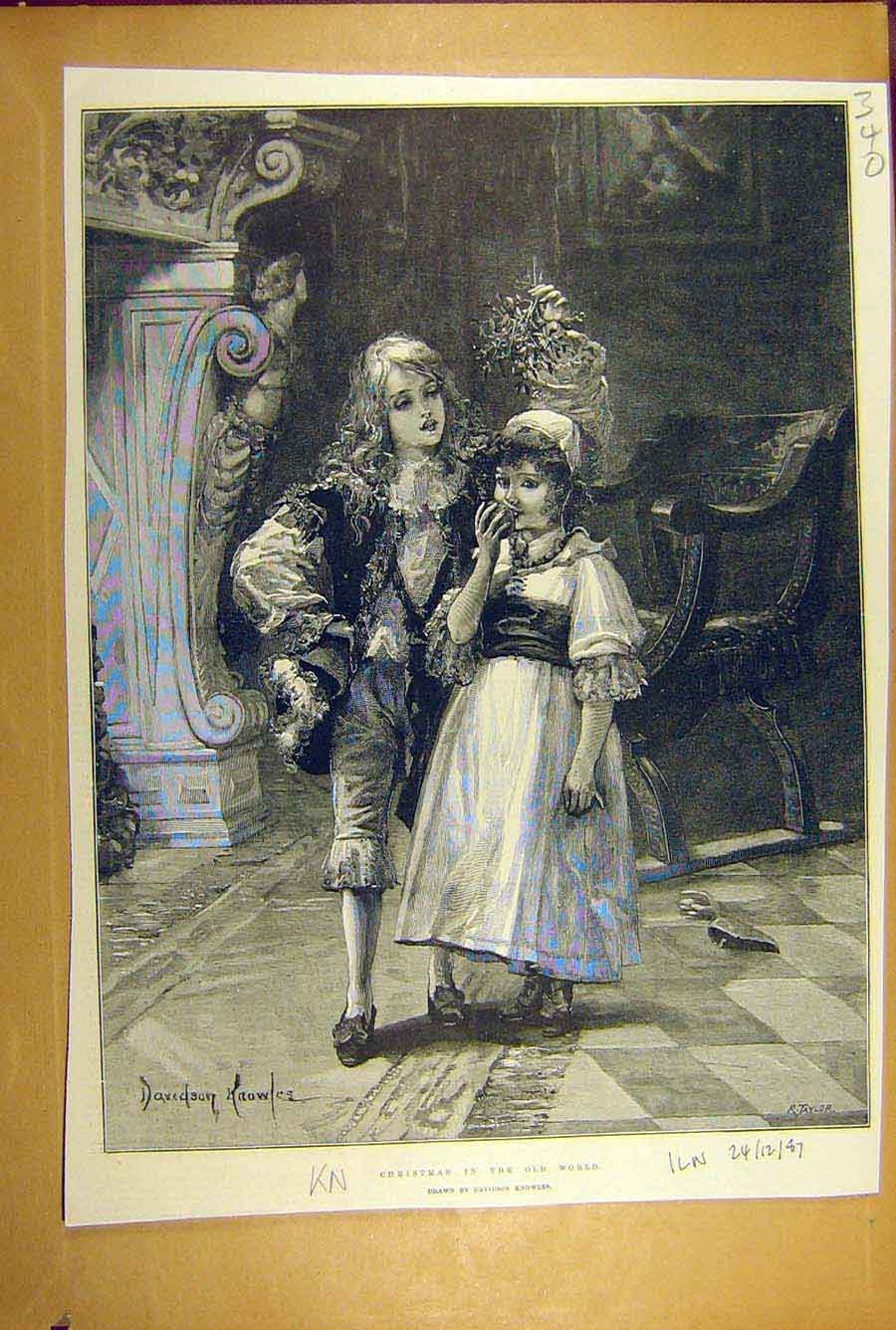 Print 1887 Old-World Christmas Knowles Children 408781 Old Original