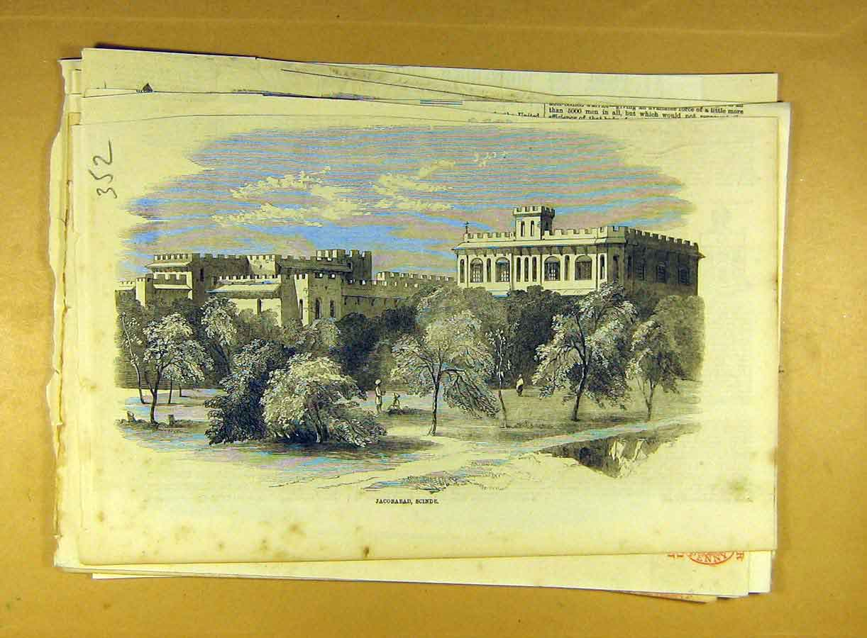 Print Jacobabad Scinde India Building Indian 528791 Old Original