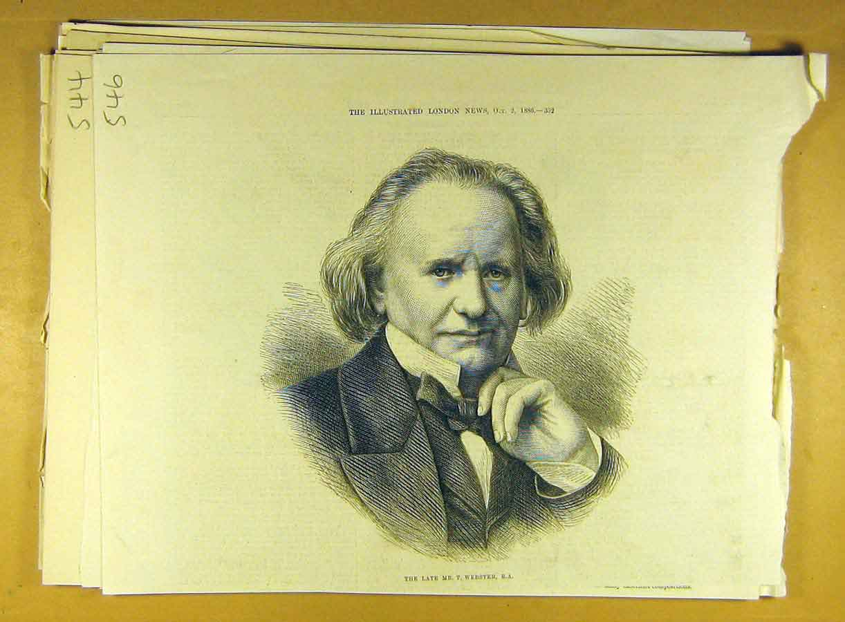 Print 1886 Portrait T. Webster R.A. Gentleman 468791 Old Original