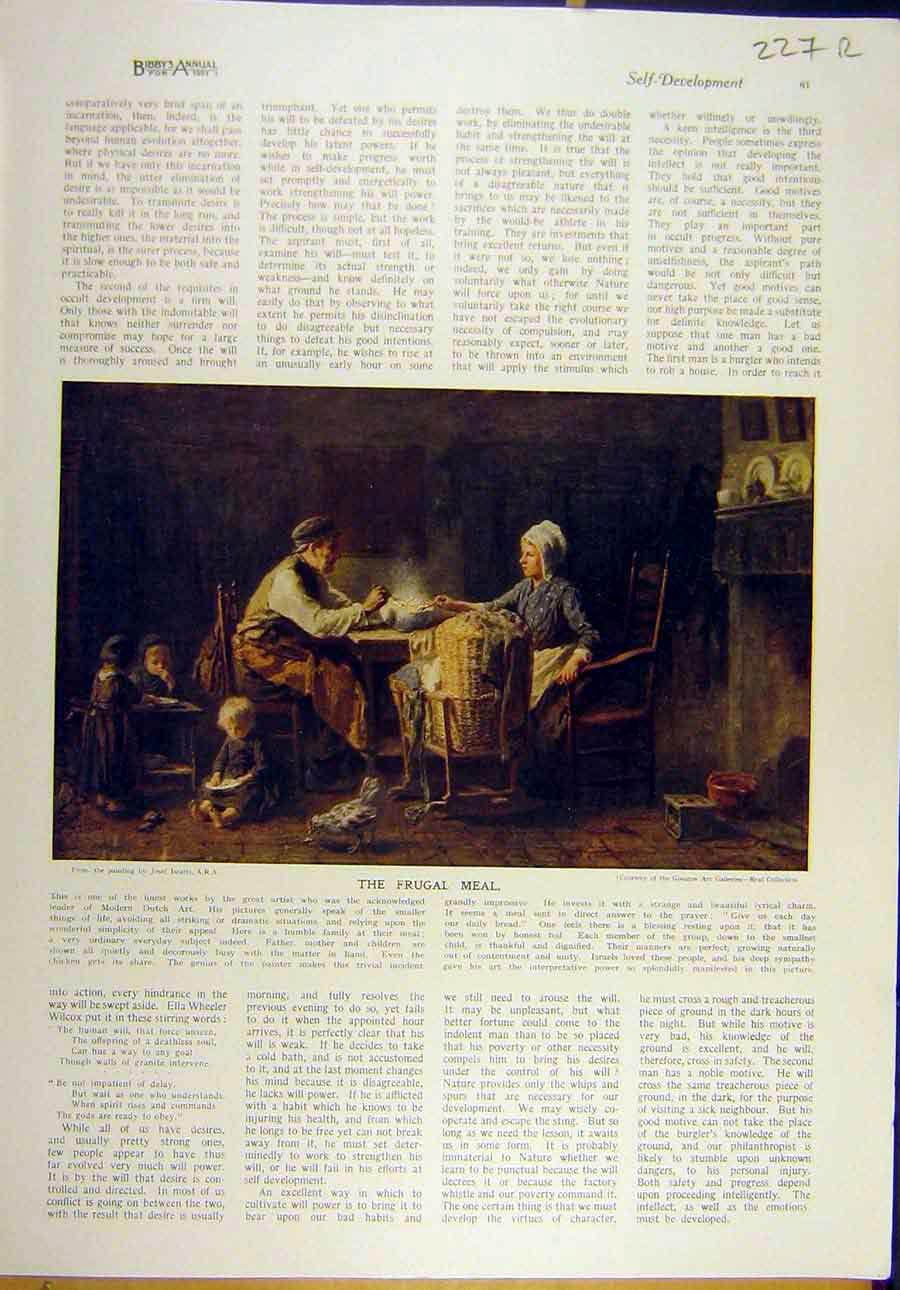 Print 1921 Frugal Meal Isreal Fine Art Spring Roundelay 27R8821 Old Original