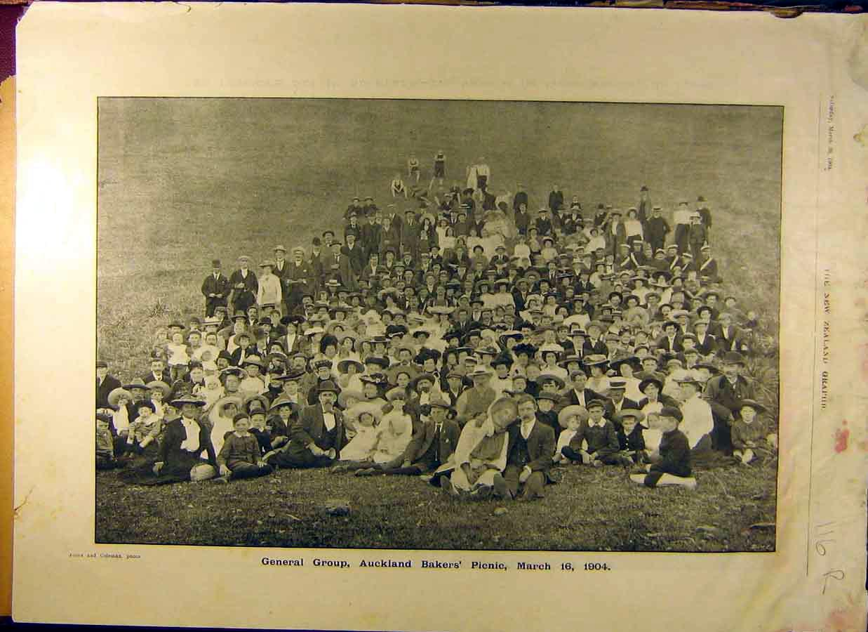 Print 1904 Auckland Bakers Picnic St. Patrick'S Day Sports 16R8831 Old Original