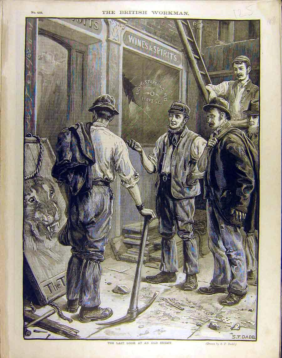 Print 1891 Enemy Tiger Dadd Workers Gentlemen Fine Art 258851 Old Original