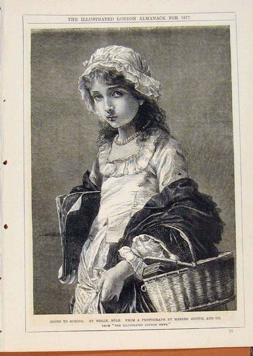 Print London Almanack Going To School Portrait Messres 548911 Old Original