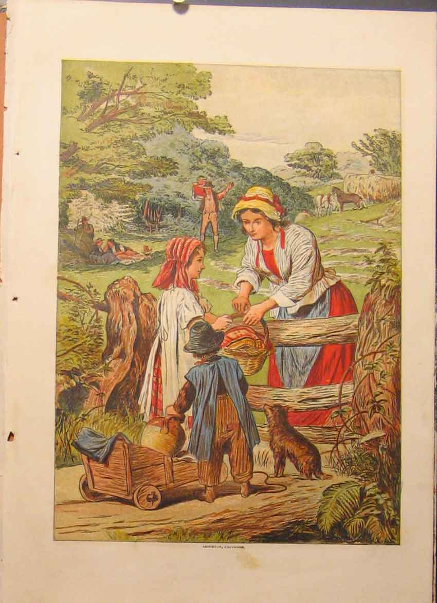 Print Illustrated London Almanack Leighton Brothers 688921 Old Original