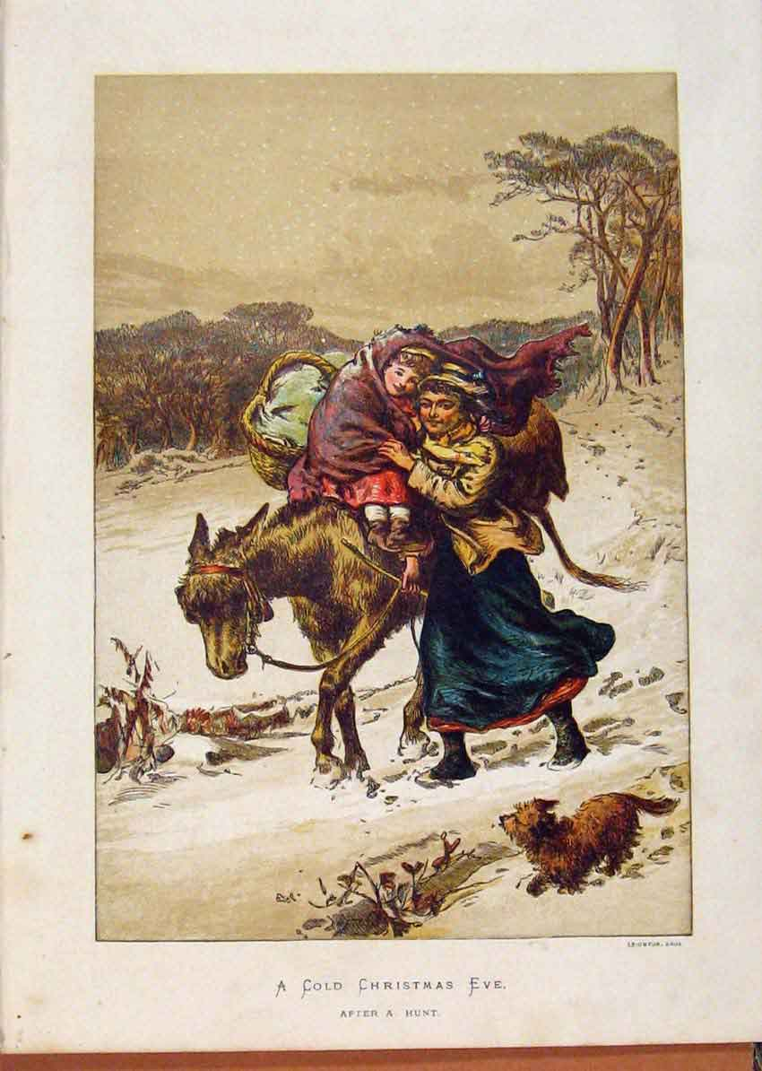 Print Illustrated London Almanack Cchristmas Eve 428921 Old Original