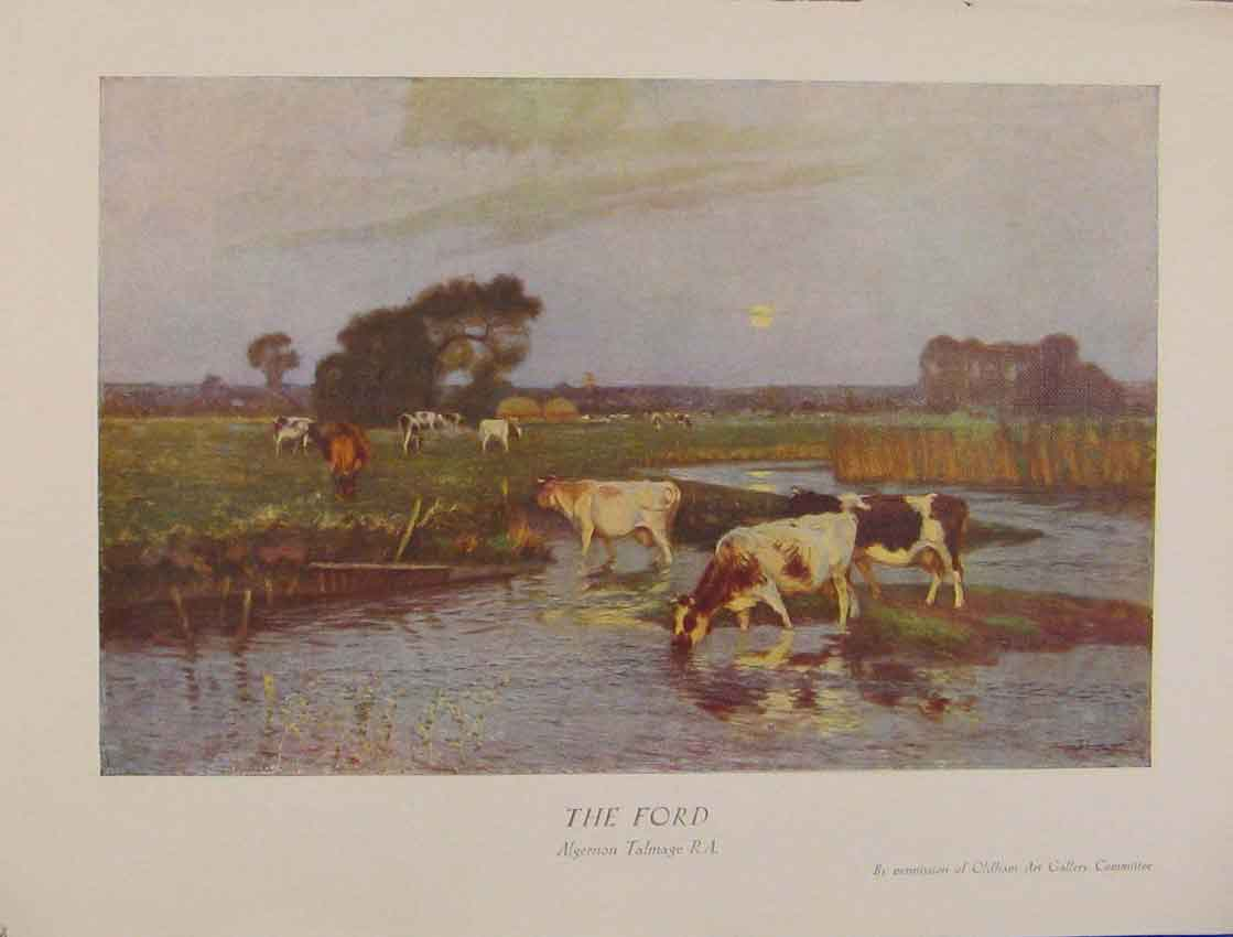 Print British Art The Ford Algernon Talmage Color Art 608931 Old Original