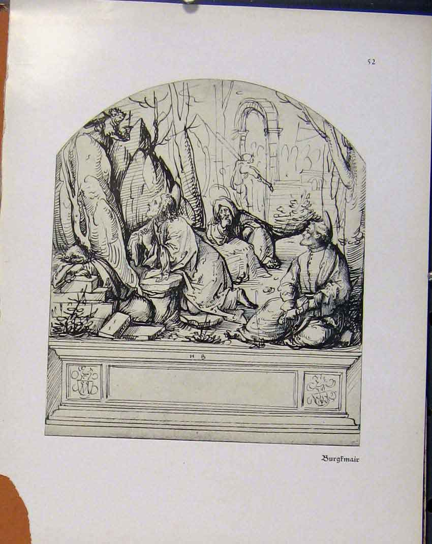 Print German Drawings Burgfmair C1923 708941 Old Original